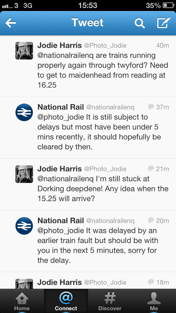 Trains, Twitter and a Taxi