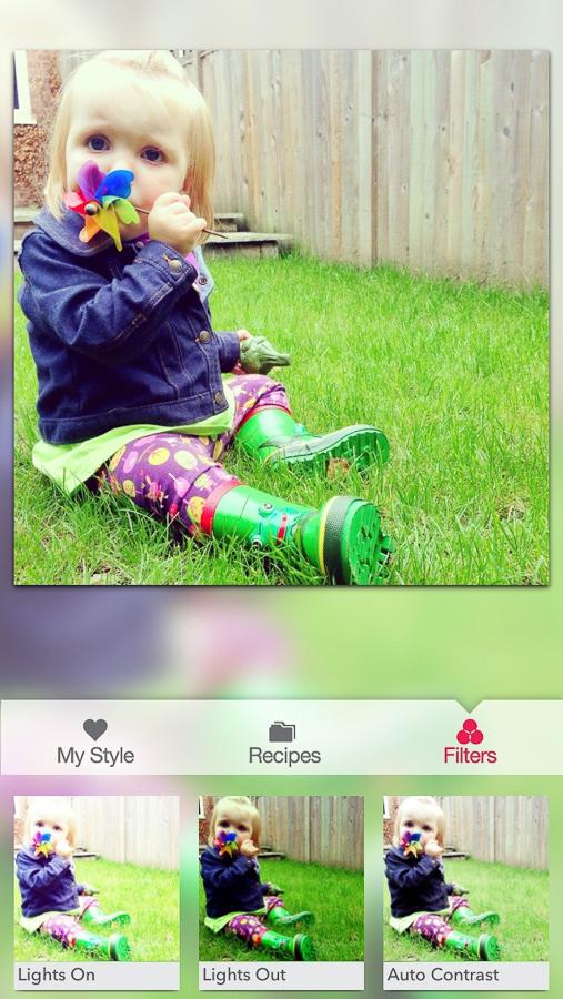 Screen shot of Snapseed App