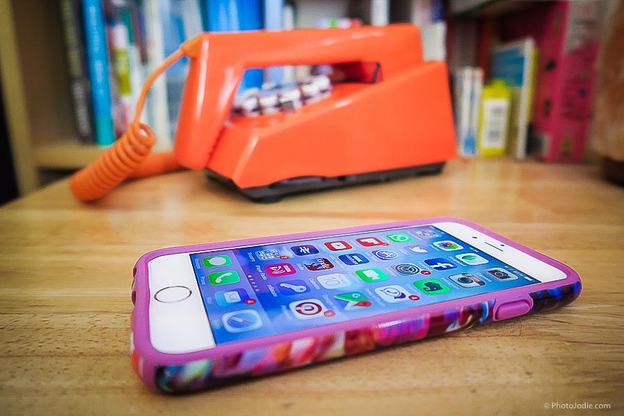 iPhone and retro phone