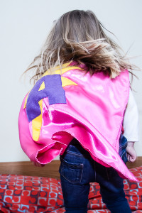 Personalised superhero cape by Jem sewing alterations in Maidenhead.