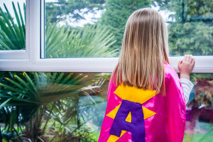 Personalised super hero cape by Jo from Jem Sewing alterations in Maidenhead