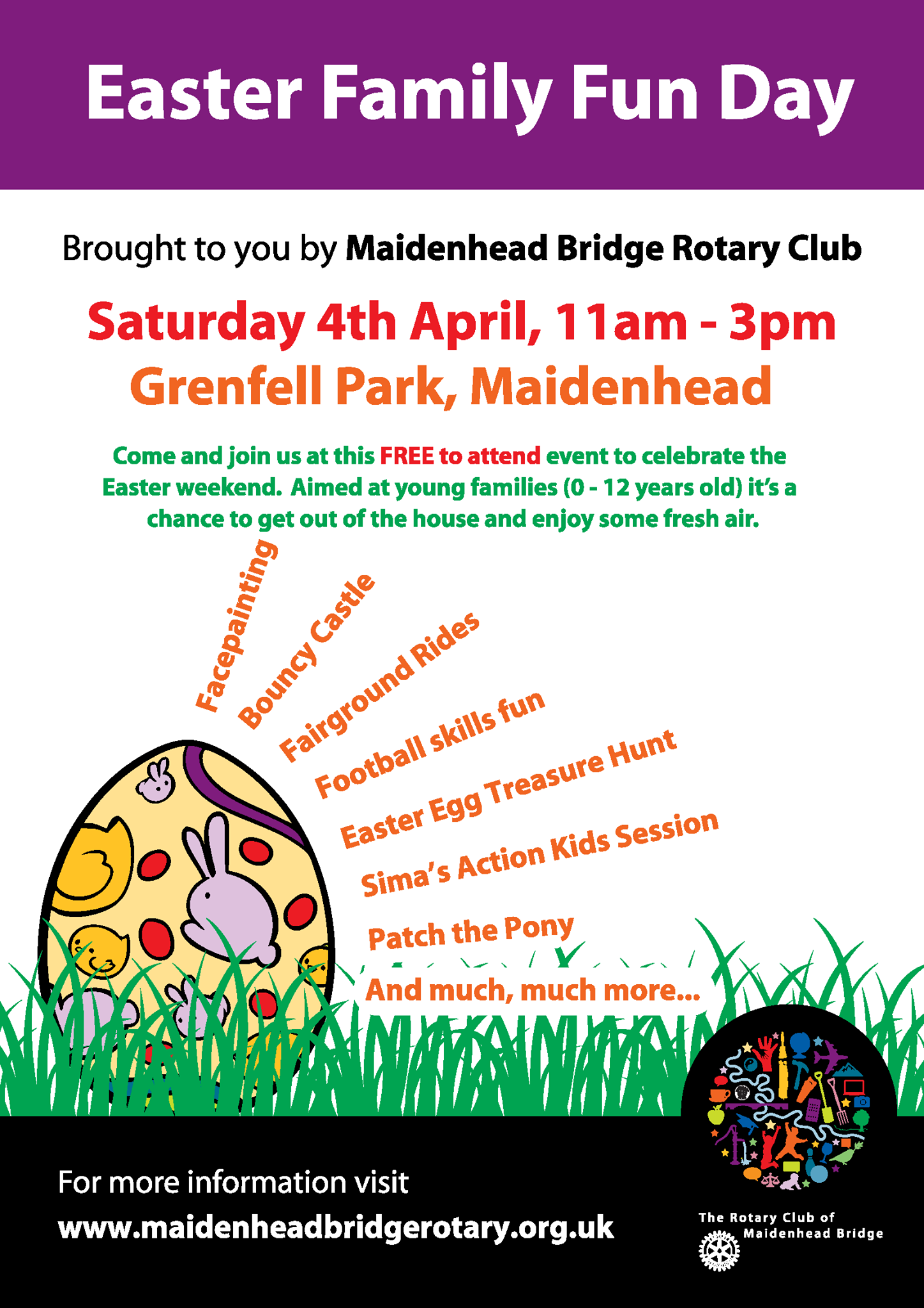 A family friendly guide to whats on at easter in maidenhead grenfell park fun day free httpsfacebookmaidenheadbridgerotaryfrefts negle Image collections