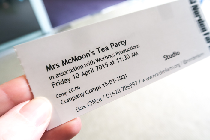 Tickets for Mrs Mcmoon's Tea Party