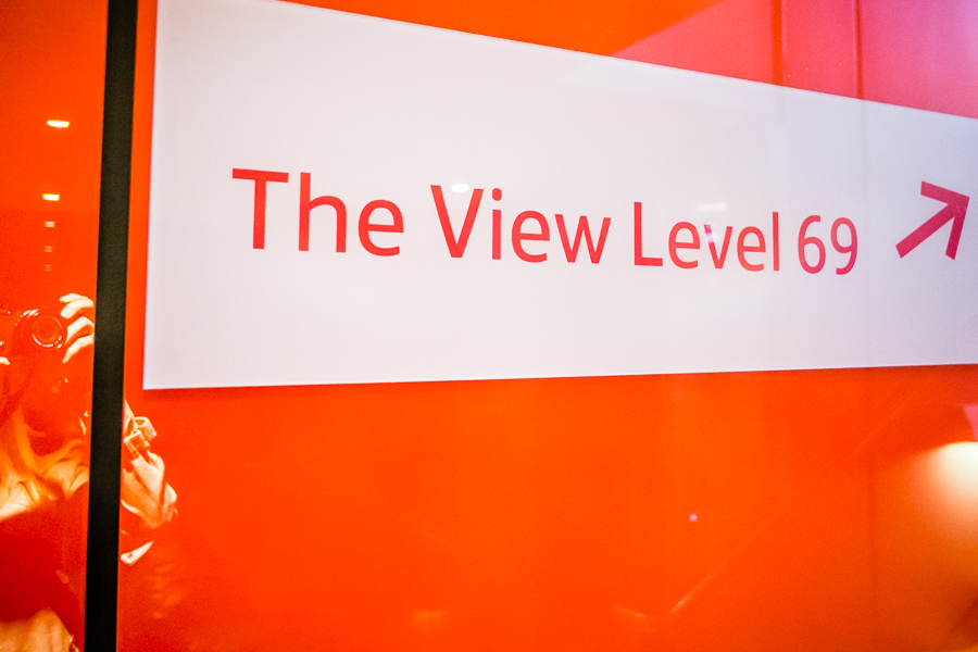Sign for the second viewing platform at The Shard
