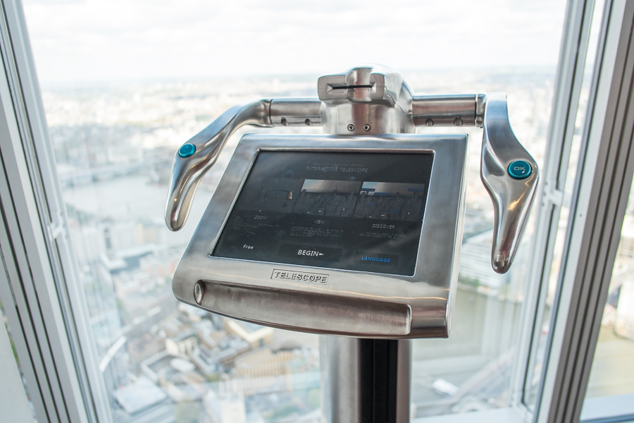 You can use 'telescopes' to zoom in on the view at The Shard
