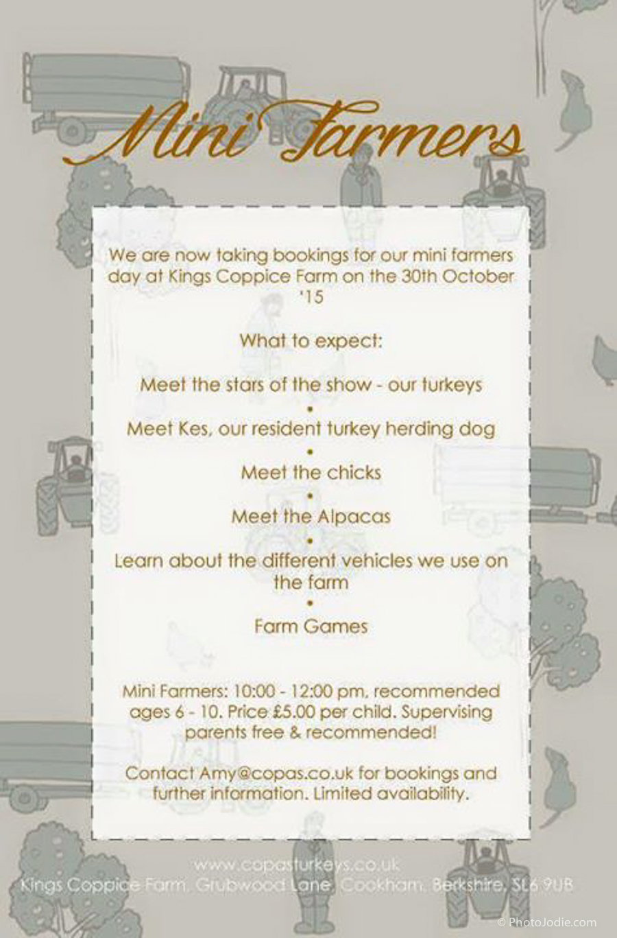 Cops Farm Half term