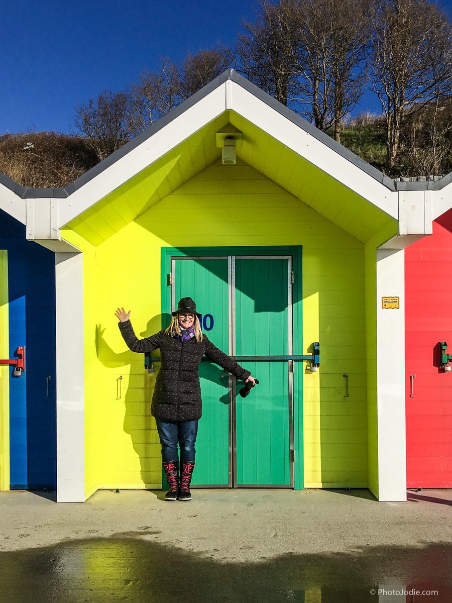 Beach huts at barry island