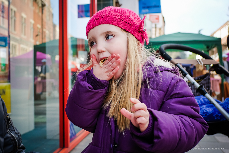 Maidenhead Mum Blog Post Eatonthehighstreet Girl eating pancake