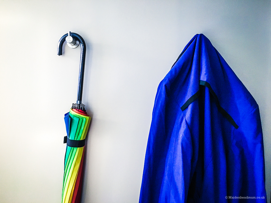Umbrella and raincoat ready for Photo Walk