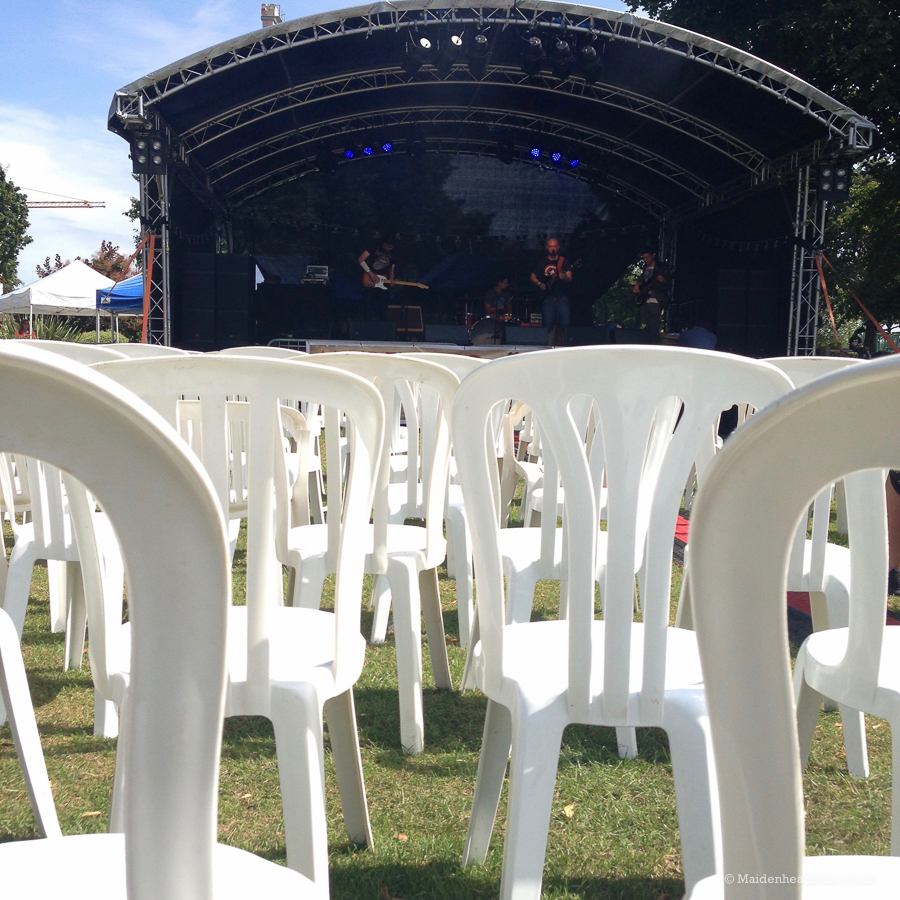 stage at the maidenhead festival
