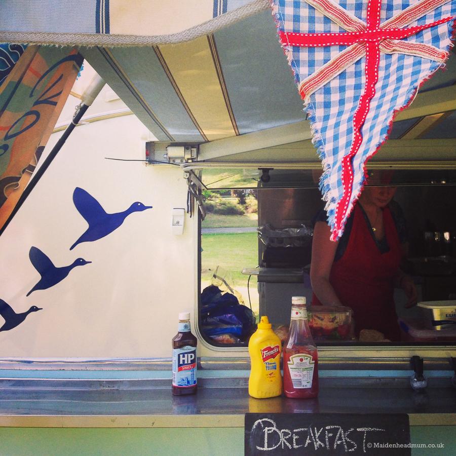 Food stall at Maidenhead Festiival