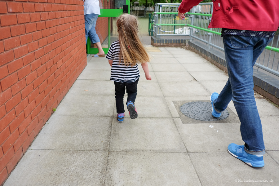 We thought we might need to hold her hands and stay close by on the first visit but she literally skipped on in!