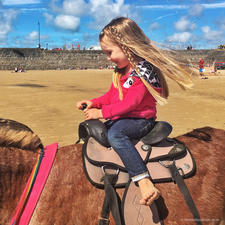 I loved watching her ride the donkey. Sunshine, bare feet, the wind in her hair. It was lovely and timeless.