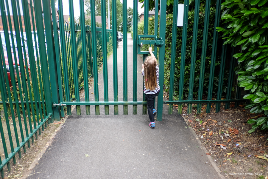 She enjoyed her settling in session so much that we were the last ones to leave and had got ourselves locked in!