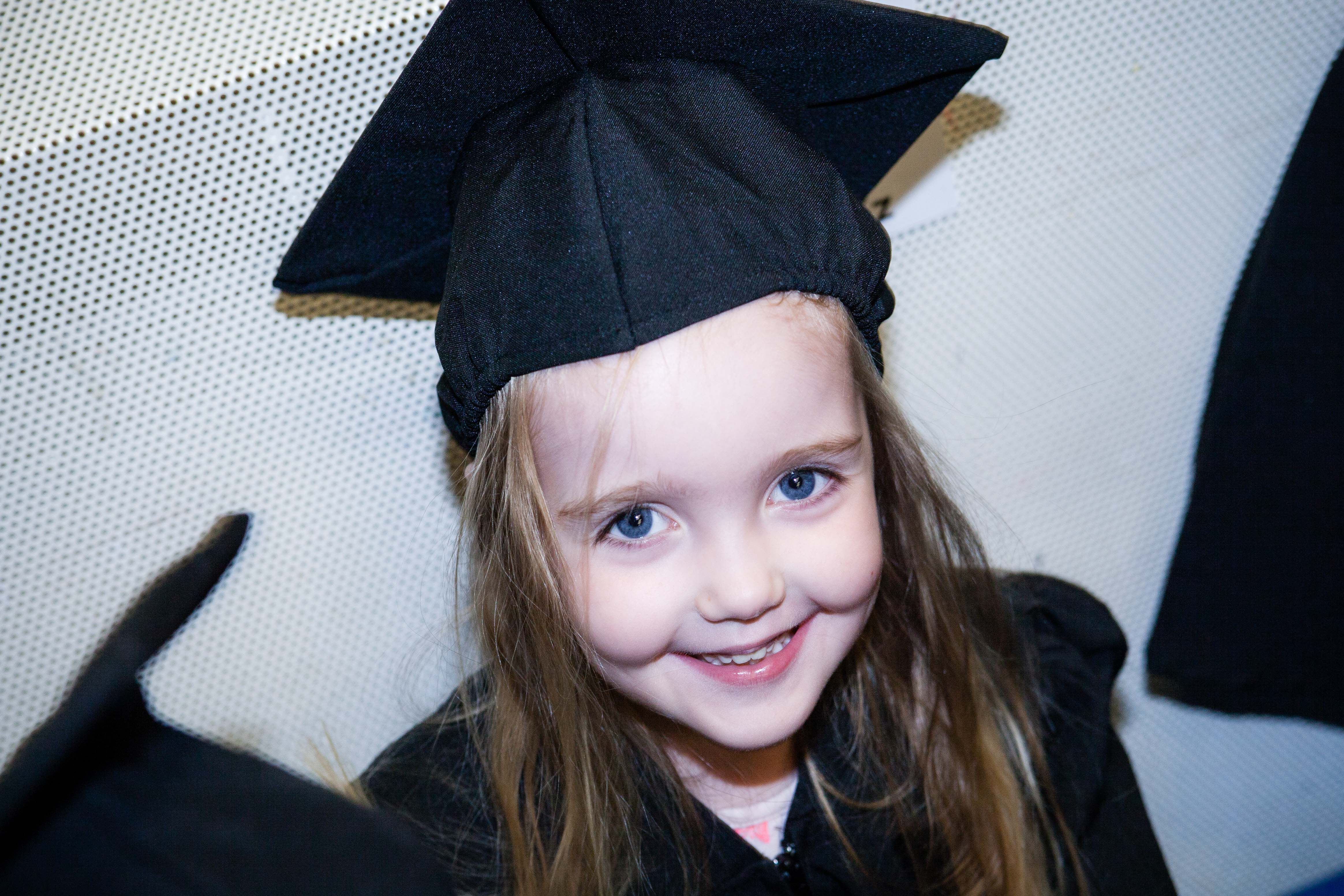 The excitement of her 'gradulation day' (thats how she says it!)