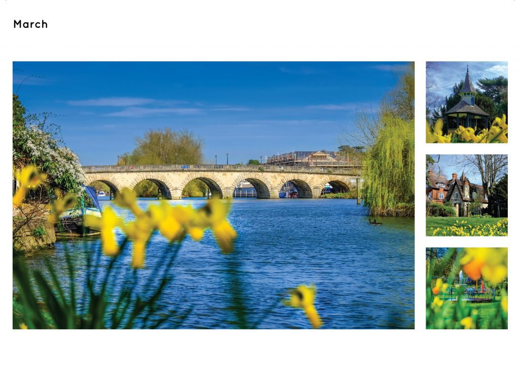 Maidenhead Calendar Page March