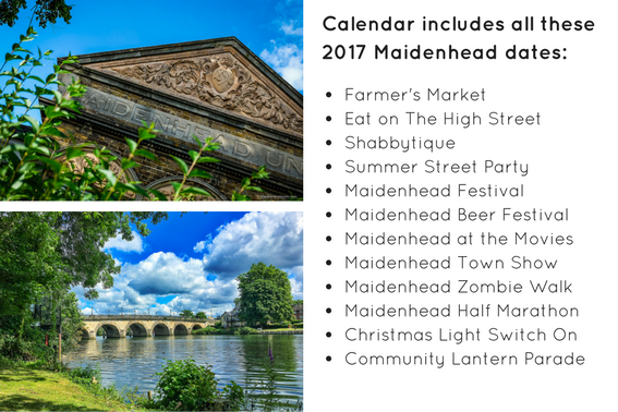 Maidenhead Calendar dates 2017