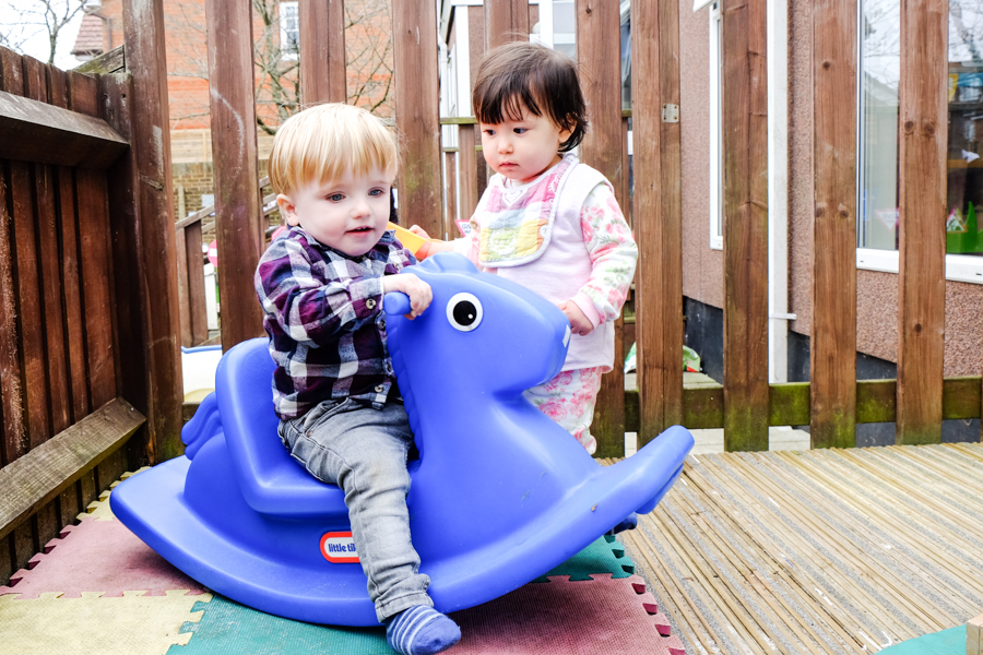 Outside play at Co-op Nursery Maidenhead