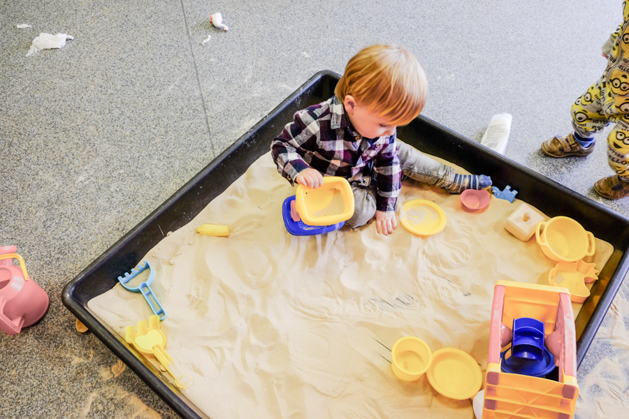 Sand play at the Co-op Nursery Maidenhead
