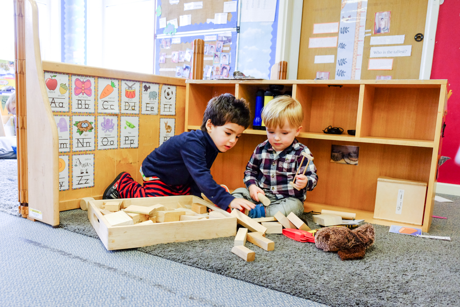 Children playing at the Co-Op nursery in Maidenhead.