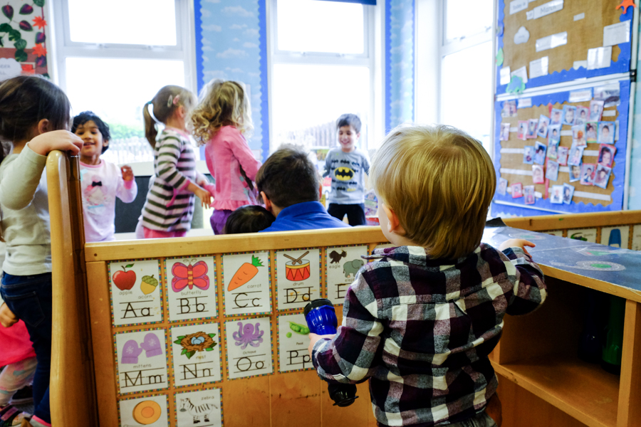 Children at the Co-Op Nursery Maidenhead.
