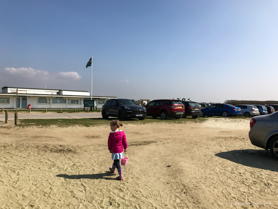 Cafe and car park at West Wittering beach.