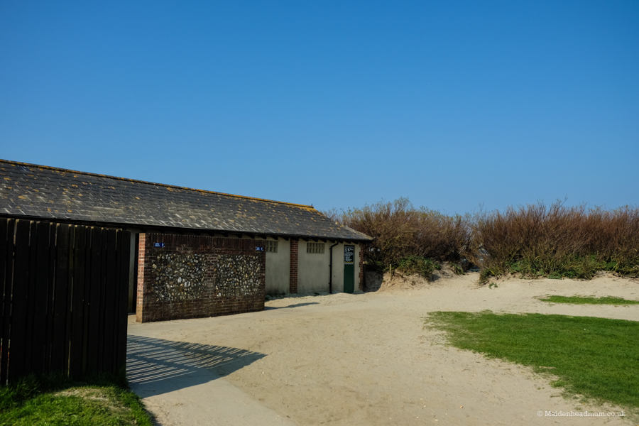 Toilets at West Wittering beach.