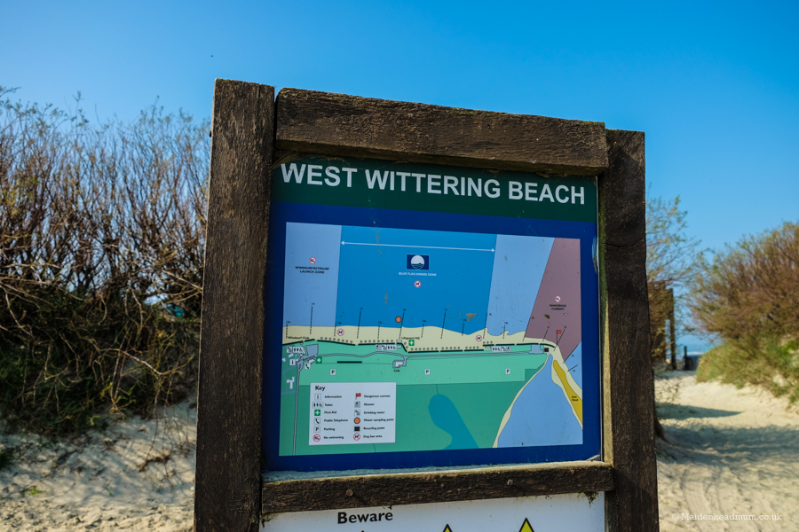 West Wittering Beach map.