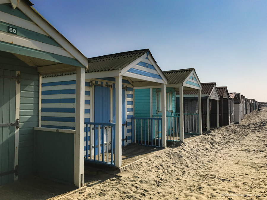 Beach huts on West Wittering beach.