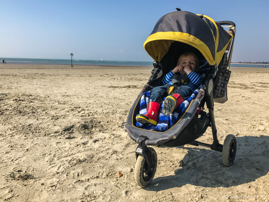 West Wittering beach with a toddler.