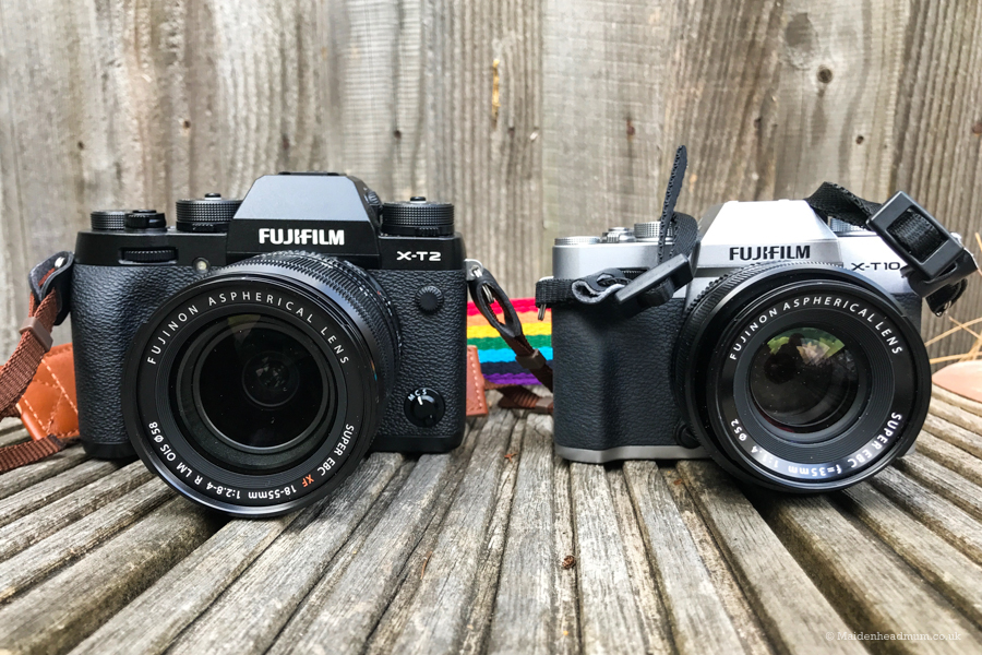 The Fuji XT2 and the Fuji XT10 side by side