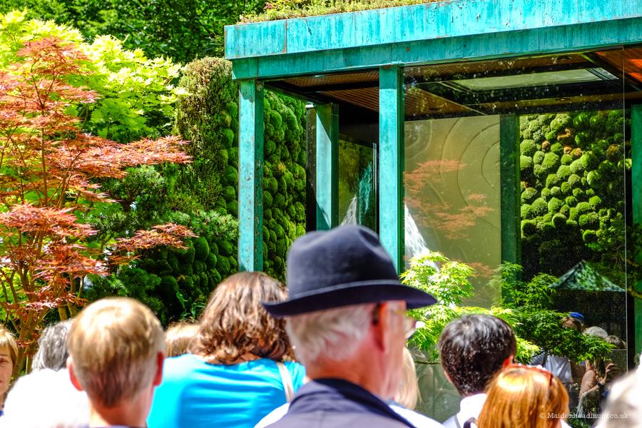 The Japanese water garden 'Gosho No Niwa No Wall, No War' at the Chelsea Flower Show