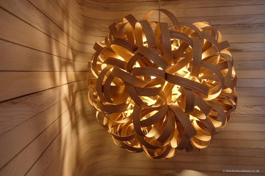 A beautiful pendant light by Tom Raffield