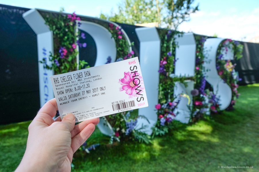 Ticket for the chelsea flower show