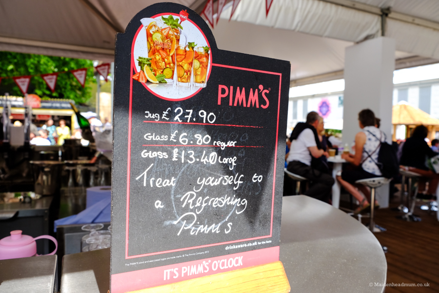 Pimms at the Chelsea Flower Show