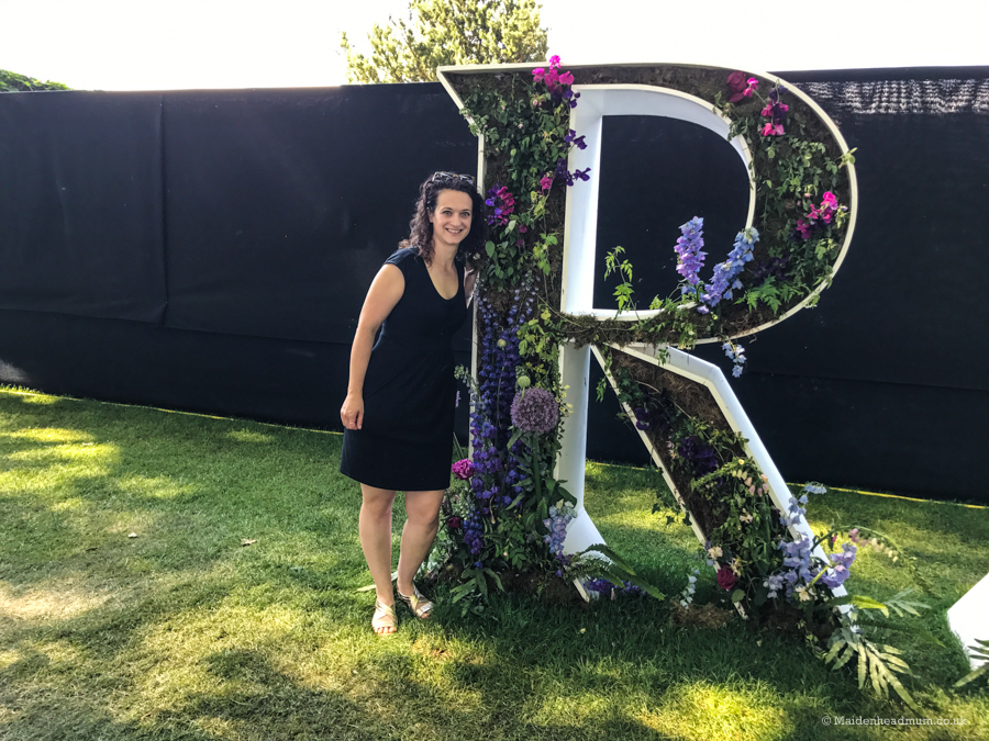 Floral letters at the Chelsea Flower Show