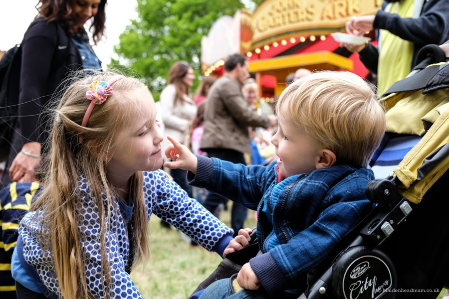Carter's steam fair Pinkneys Green : childrens activities Maidenhead