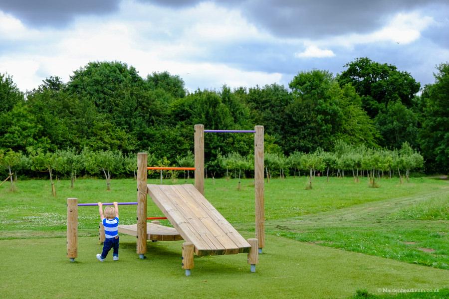Fitness trail at Ockwells Park Maidenhead