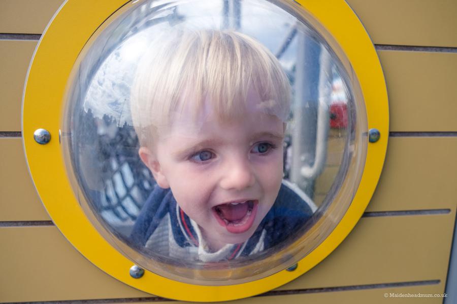 child in kidwells park in Maidenhead