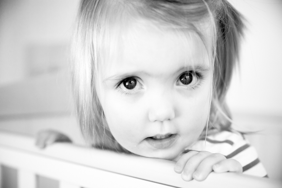 Child in black and white