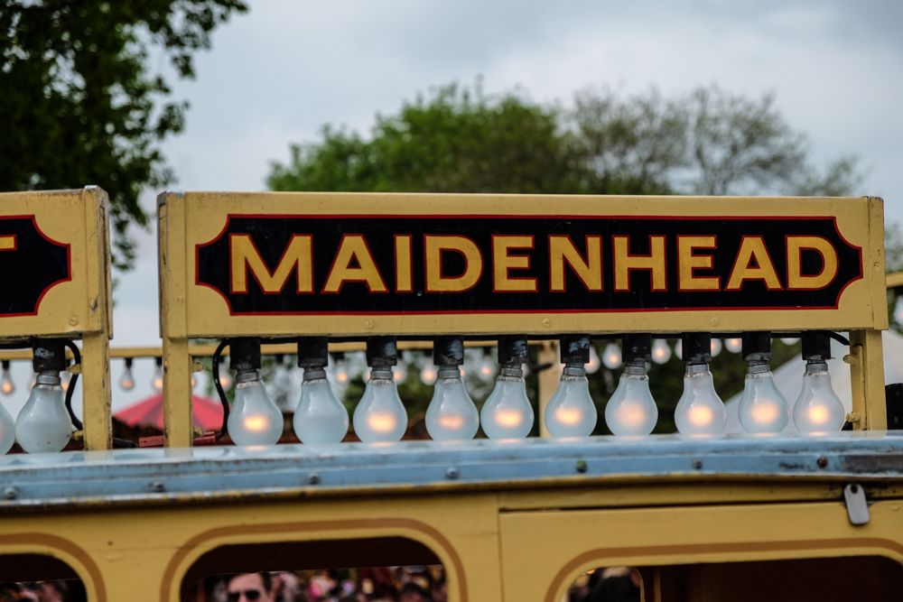 Maidenhead sign at carters steam fair