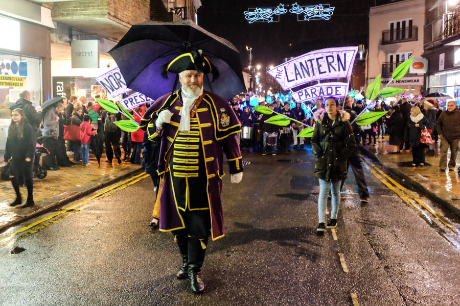 Norden Farm lantern parade on Maidenhead high street