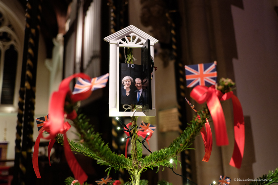 The Prime Minister's Christmas tree at the Christmas Tree festival maidenhead