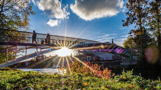 Maidenhead footbridge at Boulters Lock