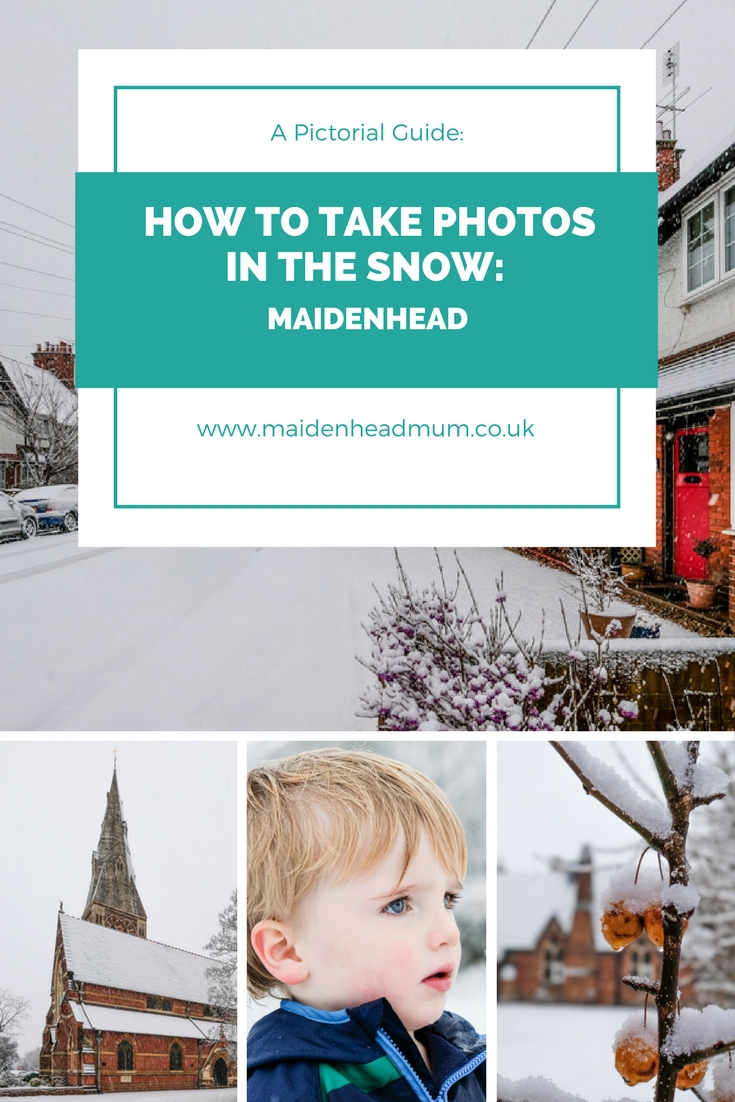 Essential photo inspiration and tips for doing your own snowy walk around your town, featuring Maidenhead in the UK.