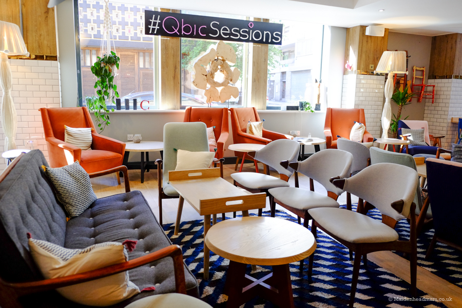 lounge at the Qbic hotel in London