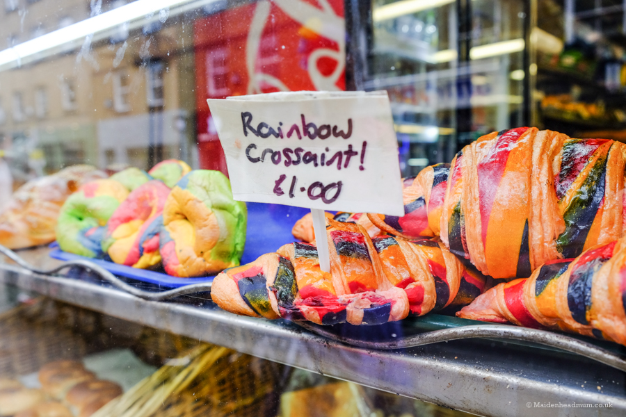 Rainbow Croissant in Brick Lane