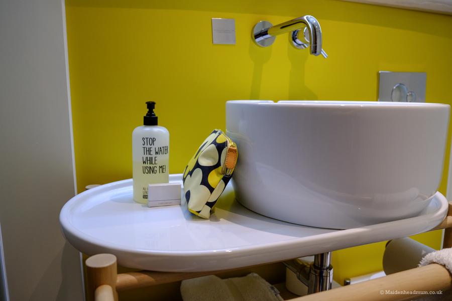 Eco friendly toiletries at the Qbic Hotel London