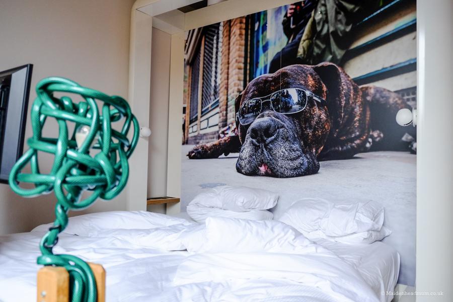 Bedroom at the Qbic Hotel London City