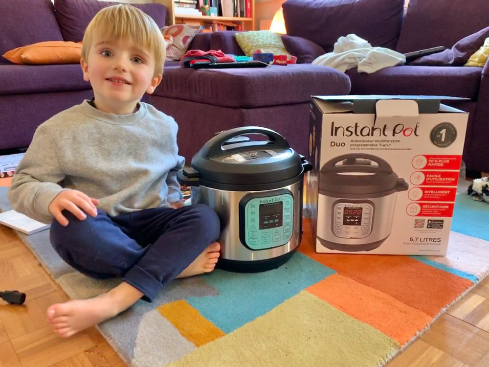 instant pot delivered from amazon